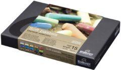 Royal Talens Soft pastel set half 15 kleuren softpastels pastelkrijt