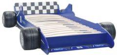 VidaXL Kinderbed raceauto 90x200 cm blauw