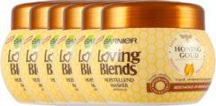 Garnier Loving Blends Honinggoud Masker Voor Beschadigd Of Breekbaar Haar Voordeelverpakking