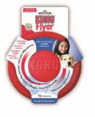 Rode Kong Flyer Frisbee - Kauwspeelgoed - 225 mm x 225 mm x 39 mm - Rood