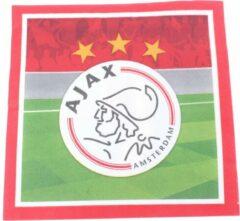 Servetten Ajax 33x33 cm - 20 stuks - Feestartikelen AJAX Amsterdam