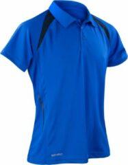 Marineblauwe Spiro Heren Sport Team Spirit Performance Polo Shirt (Royal/Navy)