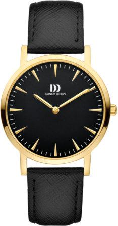 Afbeelding van Gouden Danish Design watches edelstalen dameshorloge London Black Gold Medium IV18Q1235