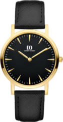 Gouden Danish Design watches edelstalen dameshorloge London Black Gold Medium IV18Q1235