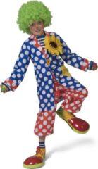 Gele ESPA - Lange clownsjas met stippen voor kinderen - 116 (6-7 jaar) - Kinderkostuums