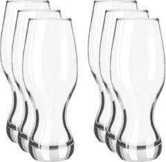 Merkloos / Sans marque 6x Speciaal bierglazen/pint glazen transparant 480 ml Specials