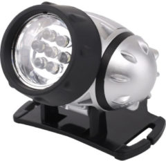BES LED Led Hoofdlamp - Aigi Heady - Waterdicht - 20 Meter - Kantelbaar - 7 Led's - 0.54w - Zilver Vervangt 6w