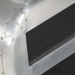 Zilveren VidaXL Tv-meubel Aviator vintage luchtvaartstijl 140x30x30 cm