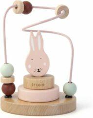 Roze Trixie houten kralenframe   Mrs. Rabbit  beads maze   konijn  speelgoed