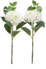 Beige Fleurange Kunstblumen - Hortensienblüten, 2er Set