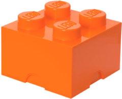 LEGO Storage Brick 4 Opbergbox - 5,7L - Kunststof - Oranje