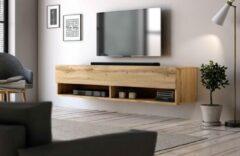 Perfecthomeshop Hangend Tv Meubel Eiken 140 cm - Modern Strak Design