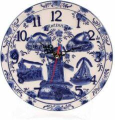 Matix Delfts Blauw Embossed Klok Bord 20 Cm Holland - Souvenir