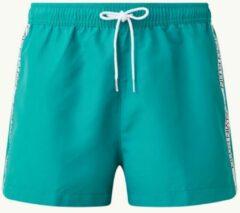 Turquoise Calvin Klein Zwemshorts met logotape