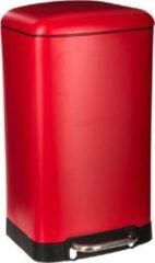 5five JJA Pedaalemmer vuilbak - rood - 30 L - 34 x 32 x 61 cm