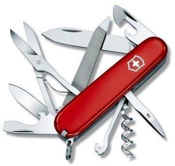 Afbeelding van Rode Victorinox Mountaineer 1.3743 Zwitsers zakmes Aantal functies: 18 Rood