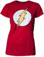 Rode DC Comics The Flash logo Dames T-shirt Maat XL