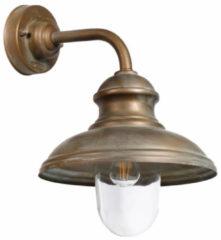 Franssen Verlichting Wandlamp boog kort verkoperd messing - zwart/groen