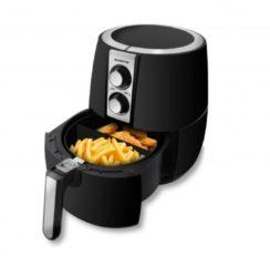 Inventum GF252HL Enkel Losstaand Low fat fryer 2.5l 1500W Zwart, Zilver friteuse