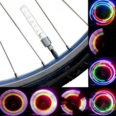 Meco 2 PCS 5 LED 8 Flashing Bicycle Valve Light Bike Wheel Light