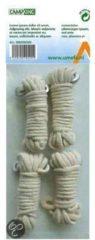 Witte Campking Katoenen Scheerlijn - 3 mm x 4 mtr - 4 Stuks