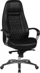 AMSTYLE Bürostuhl AUSTIN Echt-Leder Schwarz Schreibtischstuhl 120KG Chefsessel hohe Rückenlehne mit Kopfstütze X-XL