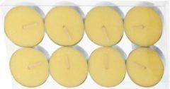 Gele Merkloos / Sans marque Set van 16x anti muggen waxine lichtjes - Geurkaarsen citrus geur - Anti-muggen citronella kaarsen