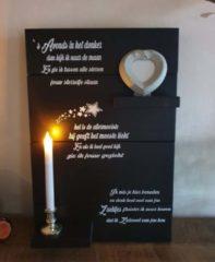 Zwarte Debrocanterievriescheloo Steigerhouten wandbord