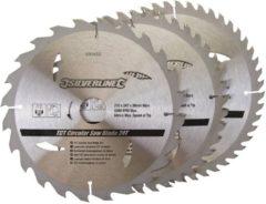 Silverline Tct Cirkelzaagblad, 24, 40, 48 Tanden, 3 Stuks (210 X 30 - 25 En 16 mm Ringen)