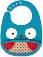 Rode Skip Hop Zoo Fold & Go Siliconen Slabbetje - owl