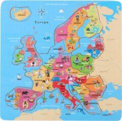 Blauwe Marionette Wooden Toys Puzzel Europa - Houten Puzzel - Kinderpuzzel - 18 Stukken - 2+