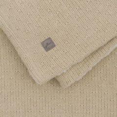 Beige Jollein baby ledikant deken teddy 100x150cm Bliss knit nougat