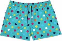Happy Socks - Big Dot Swim Short - Zwemshort - Heren - Groen - Maat M