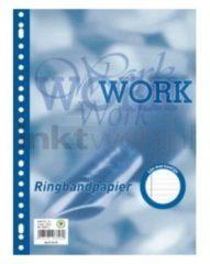 Blauwe Work collegeblok A4 - lijn - 70 grams - 23 gaats - 80 vel - 1 stuk