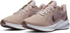 Nike Downshifter 10 hardloopschoenen beige/brons-oudroze
