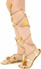 Gouden B&W Filter WELLY INTERNATIONAL - Romeinse sandalen met touw voor vrouwen - Accessoires > Schoenen > Laarzen