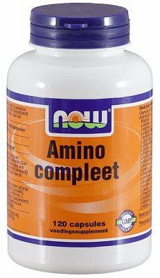 Afbeelding van Now Voedingssupplementen amino compleet 120cap