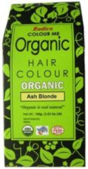 Grijze Radico COLOUR ME ORGANIC Ash Blonde 100% Natuurlijke BIO Organic 9-Kruiden o.a. Henna Haarverf Zonder PPD, PTD, Ammonia, Peroxide etc. 100g