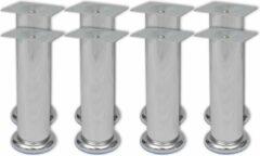 Zilveren VidaXL Bankpoten rond 8 st 180 mm chroom