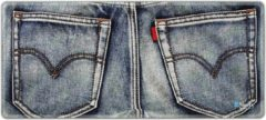 Blauwe Muismat xxl gaming spijkerbroek 90 x 40 cm - Sleevy - mousepad - Collectie 100+ designs