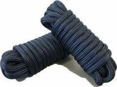 Luxe landvast U-rope 12mmx12m - Zwart