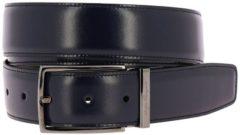 Blue SALVATORE FERRAGAMO Cintura Doppio Gancio Regolabile E Reversibile In Vera Pelle