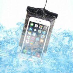 Zwarte Waterdicht Hoesje voor alle Telefoons tot 6 inch – voor onder andere Apple iPhone 7 (Plus) / 6/6s (Plus) / 5/5S/5C/SE / Samsung Galaxy S7 (Edge) / S6 (Edge) (Plus) / Huawei P10 (Lite) – Waterproof Case / Pouch - Waterdicht tot 10 meter