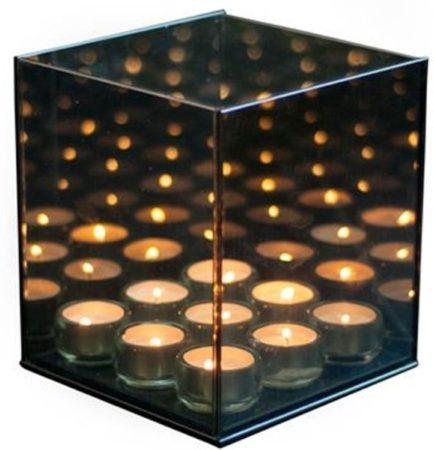 Afbeelding van Infinity Light Cube Infinity Light 9 Cube - Waxinelichthouder - Glas