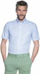Blauwe Campbell Casual overhemd met korte mouwen