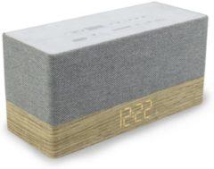 Soundmaster UR620 Wekkerradio FM AUX, Bluetooth Accu laadfunctie Hout, Grijs