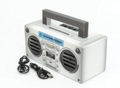 GPO BRONXSIL - GPO draagbare Bluetooth speaker zilver