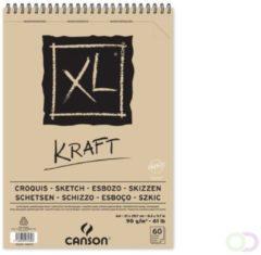 Creme witte Canson schetsblok XL kraft 90g/m² formaat A4 60 vel