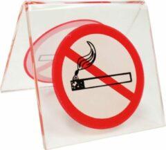 Transparante Hegro Wolvega BV Verboden te roken tafelstandaard