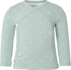 Grijze Noppies Tee Anne AOP - Grey Mint - Maat 74